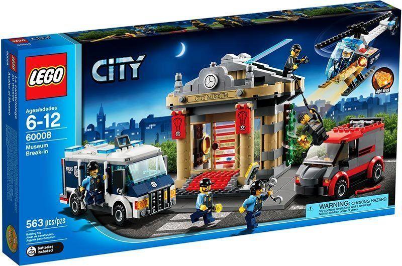 LEGO CITY 6-12 ANNI RAPINA  AL MUSEO ART 60008 RARO NUOVO FUORI PRODUZIONE