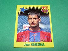 N°414 JOSEP GUARDIOLA FC BARCELONA BARCELONE PANINI FOOT 98 FOOTBALL 1997-1998