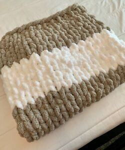 Very Soft Hand-Knitted Wool Baby Blanket