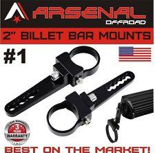 """2x 2"""" Bull Bar/Roll Cage Tube Mount Clamps For UTV Polaris RZR LED Light Bar"""
