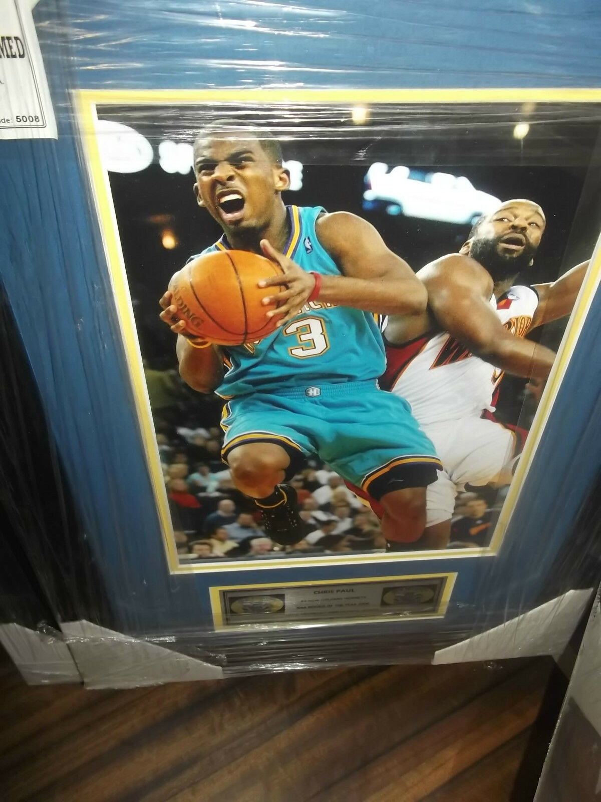 CHRIS PAUL UNSIGNED 8x12 PHOTOGRAPH FRAMED - BRAND NEW