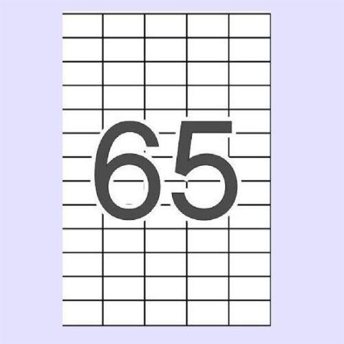 TOP* 50 HOJAS ETIQUETAS ADHESIVAS  EH.65/5 A-4 (38X21 mm) 3250 ETIQUETAS ADHESIV