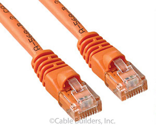 CAT5E ETHERNET PATCH CABLE 100FT ORANGE CATEGORY 5E CORD 100/' SNAGLESS RJ45