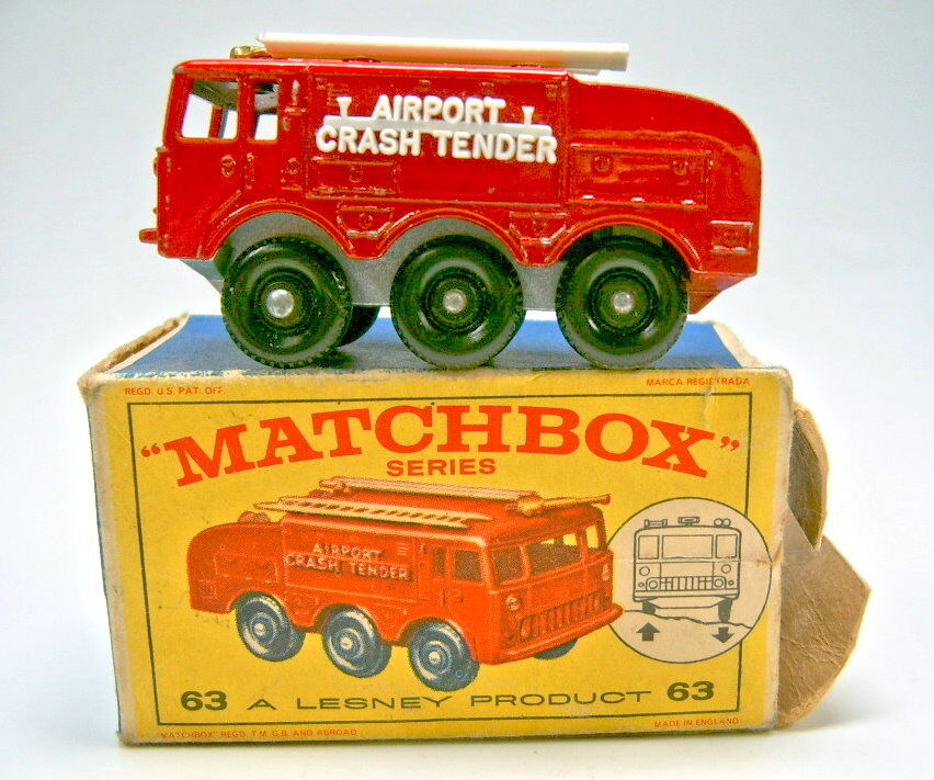 MATCHBOX rw 63b foamite crash tender avec suspension  BOX
