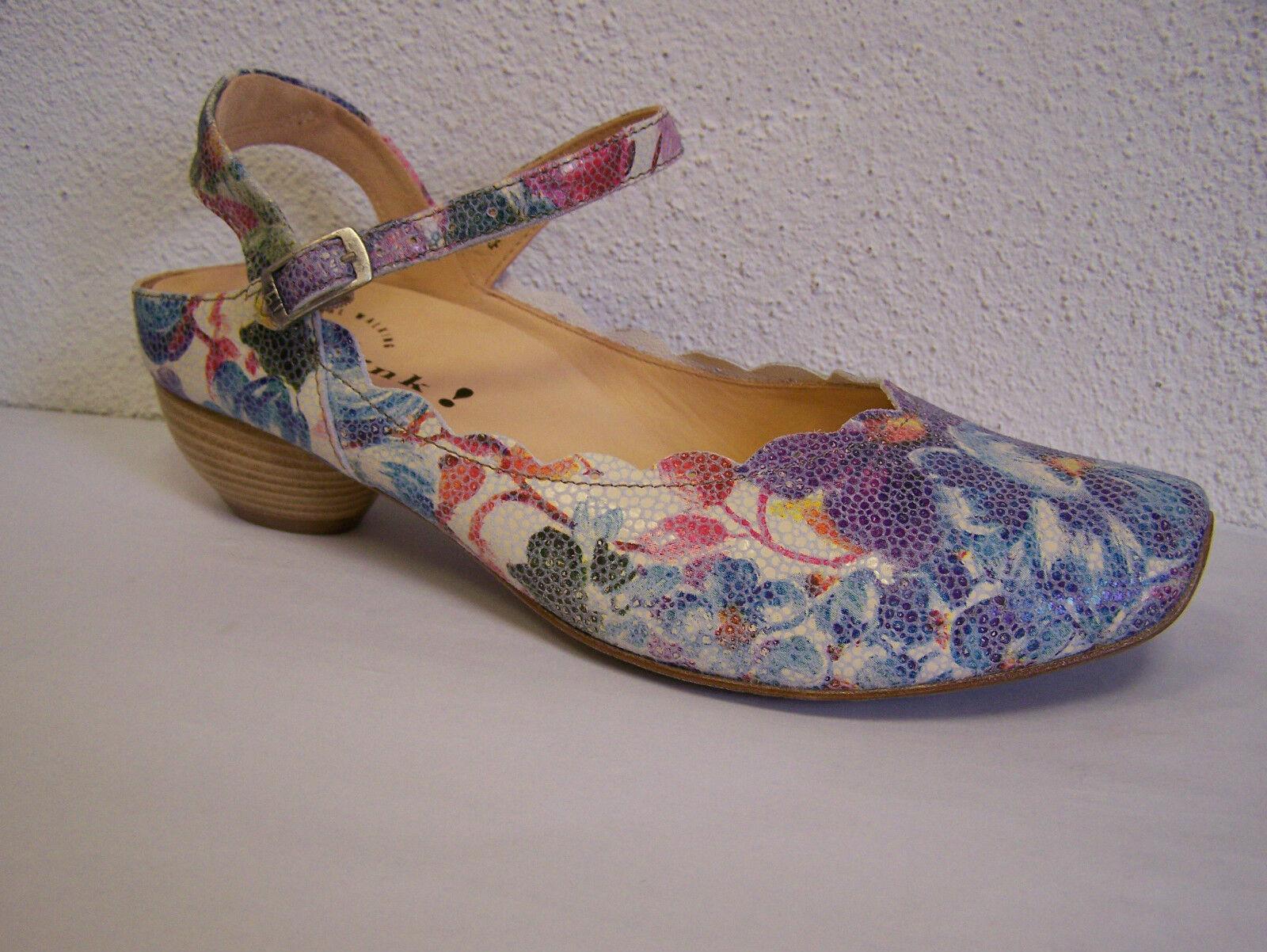 Los zapatos más populares para hombres y mujeres Think! zapato modelo aida Bianco/multi con blumenprint incl. think bolsa de papel