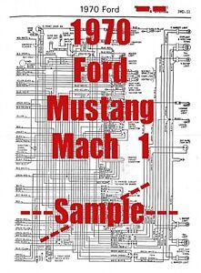 1970 Ford Mustang Mach 1 Full Car Wiring Diagram High Quality Printed Diagram Ebay