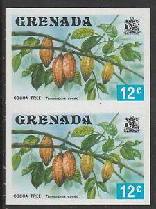 Grenada (428) 1975 Cocoa Tree 12c IMPERFORATE PAIR u/m