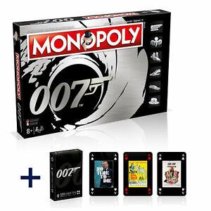 Monopoly-James-Bond-007-Deutsch-Franzoesisch-Edition-Brettspiel-Kartenspiel