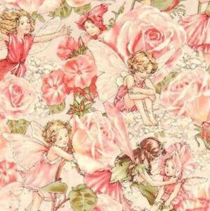 Michael-Miller-Sweet-Garden-Flower-Fairies-Cotton-Fabric-DC4220-ROSE-D-BTY