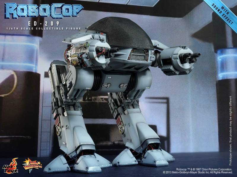 HOTTOYS 1/6 ROBOCOP MMS204 ED-209 WITH SOUND EFFECT MASTERPIECE ACTION FIGURE