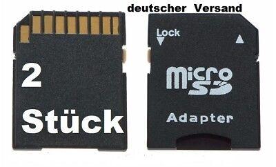 2 Micro Sd Auf Sd Adapter Für 2/4/8/16/32 Oder 64 Gb Speicherkarten Sdsdhc Sdxc. BüGeln Nicht