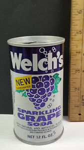 Welchs Grape Can Flat Pull Tab Top 1 Rare Vintage