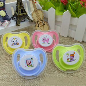 1*1*Cute Baby Silicone Soother Butterfly Round Pacifiers Newborn Infant Pacifier