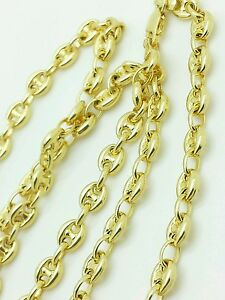 "14k Or Jaune Soufflé Mariner Anchor Collier Chaîne 18"" 20"" 24"" 4.7 Mm-afficher Le Titre D'origine Nnlnyzvk-07234603-476854058"