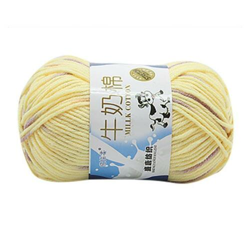 Hot SALE LOT of 1PC 50g NEW Chunky Colorful Hand Knitting Scores Milk Cotton