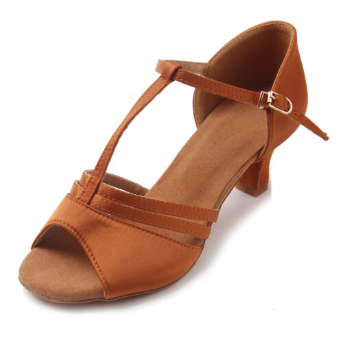 New Women Girl lady/'s Ballroom Tango Latin Dance Shoes Dancing heeled Salsa
