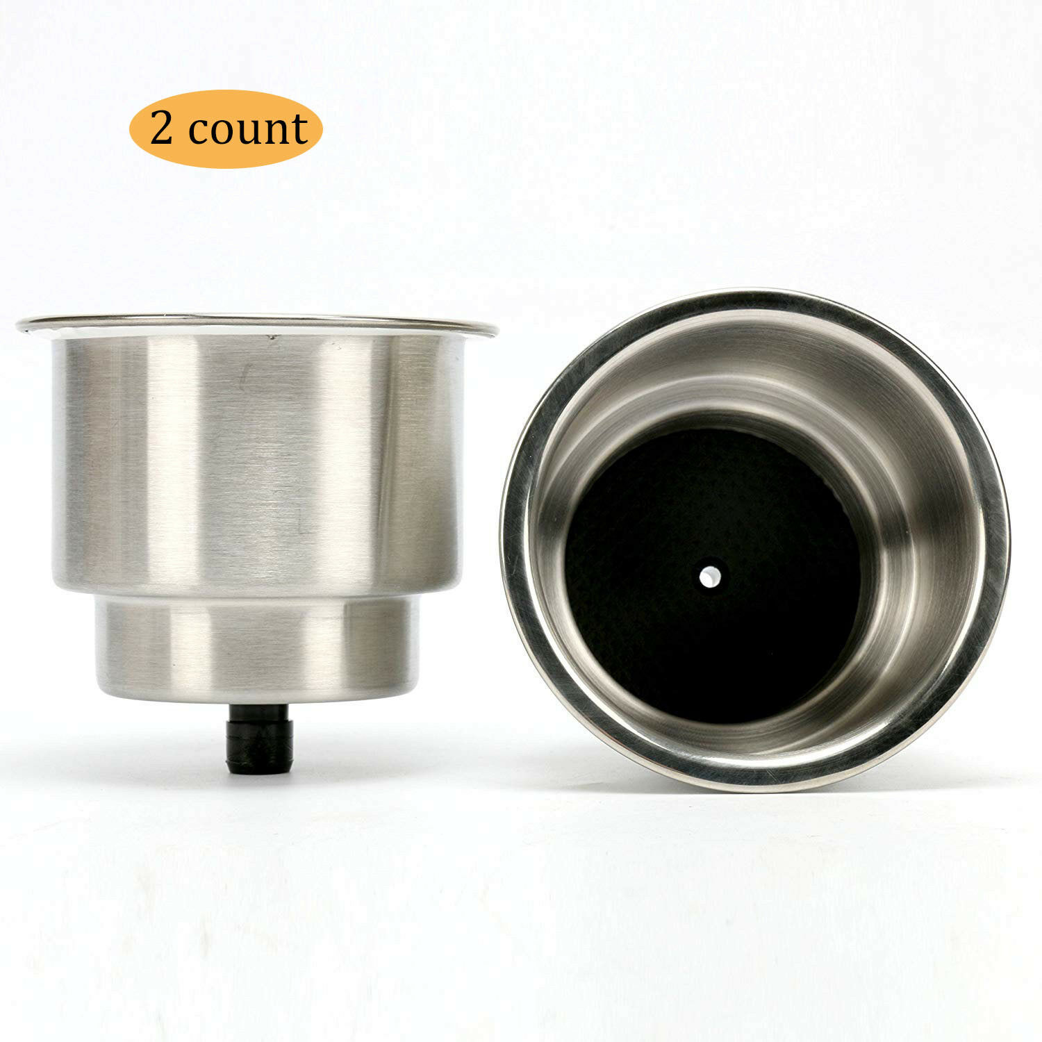 MYSPORT/_6 4pcs Stainless Steel Cup Drink Holder with Drain for Marine Boat RV Camper