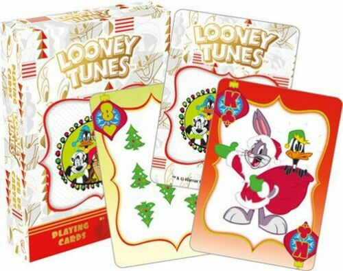 PLAYING CARD DECK LOONEY TUNES HOLIDAY CHRISTMAS 52603 52 CARDS NEW