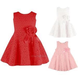 New-Lovely-Kids-Baby-Girls-Summer-Dress-Sleeveless-Lace-Dress-Clothes-hv2n