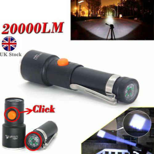 Pocket Mini Tactical 20000LM T6 LED AA Rechargeable Flashlight Light Torch Lamp
