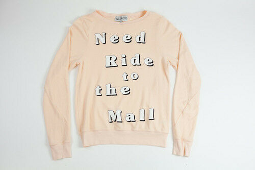 NWT Wildfox Couture Need Need Need Ride to the Mall beach baggy jumper Size XS 424d0c