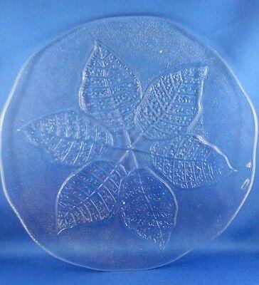 KOSTA BODA Sweden EMBOSSED LEAF Serve Platter Plate by Ann Warff KITCHEN - Aust