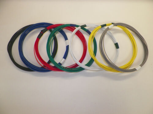 18 GXL HIGH TEMP 7 SOLID COLORS 25 FEET EACH 175 FT TOTAL AUTOMOTIVE POWER WIRE