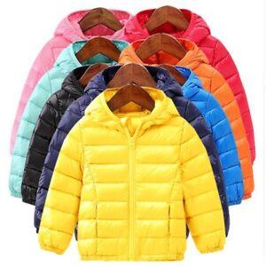 6caf8aa97 Girls Boys kids jacket hood Duck Warm Puffy Coat winter outerwear ...