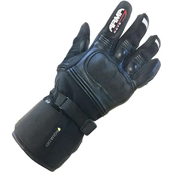 ARMR climashield CUIR + textile imperméable wp670 Gant moto noir T