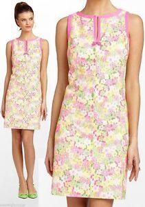 Detalles Acerca De 238 Lilly Pulitzer Percy Multi Floral Sunbonnet Con Ojales De Encaje Cambio Vestido Mostrar Título Original