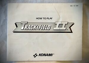 Track-amp-Field-II-1988-Nintendo-NES-Instruction-Manual-Booklet-Only