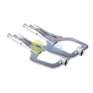 Amtech-2x-acier-11-034-C-Pince-Verrouillage-Reglable-Machoires-Bricolage-menuiserie-de-soudage