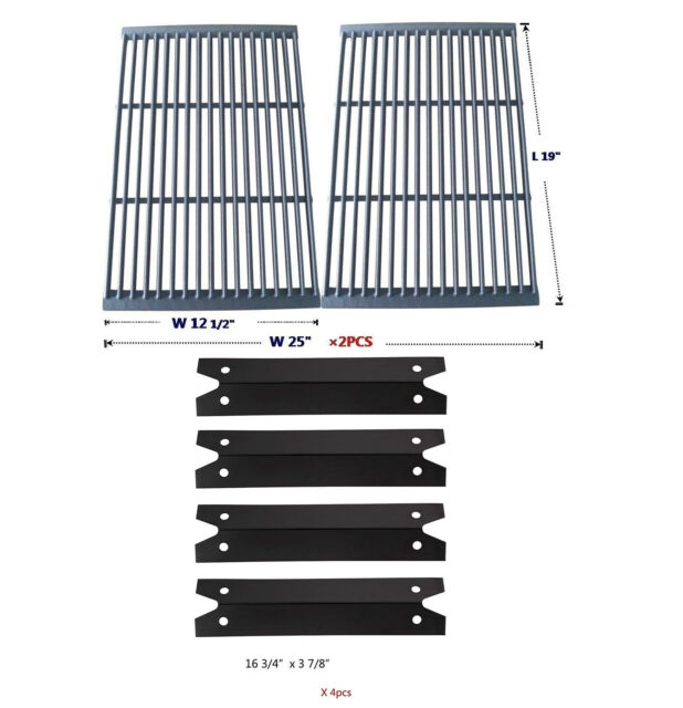 Cooking Grid Charmglow Heavy Duty 810-7400-S Replacement 4 Burners Heat Plates