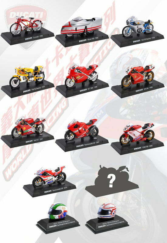7-11 13 PCS Nuovo 2015 Taiwan Exclusive Ducati 1:24 Die Cast Model Motorcycle SET
