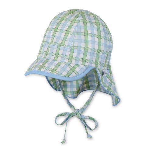 Baumwollkaro Sterntaler Jungen Sommer Schirmmütze mit Nackenschutz UV-Schutz 50