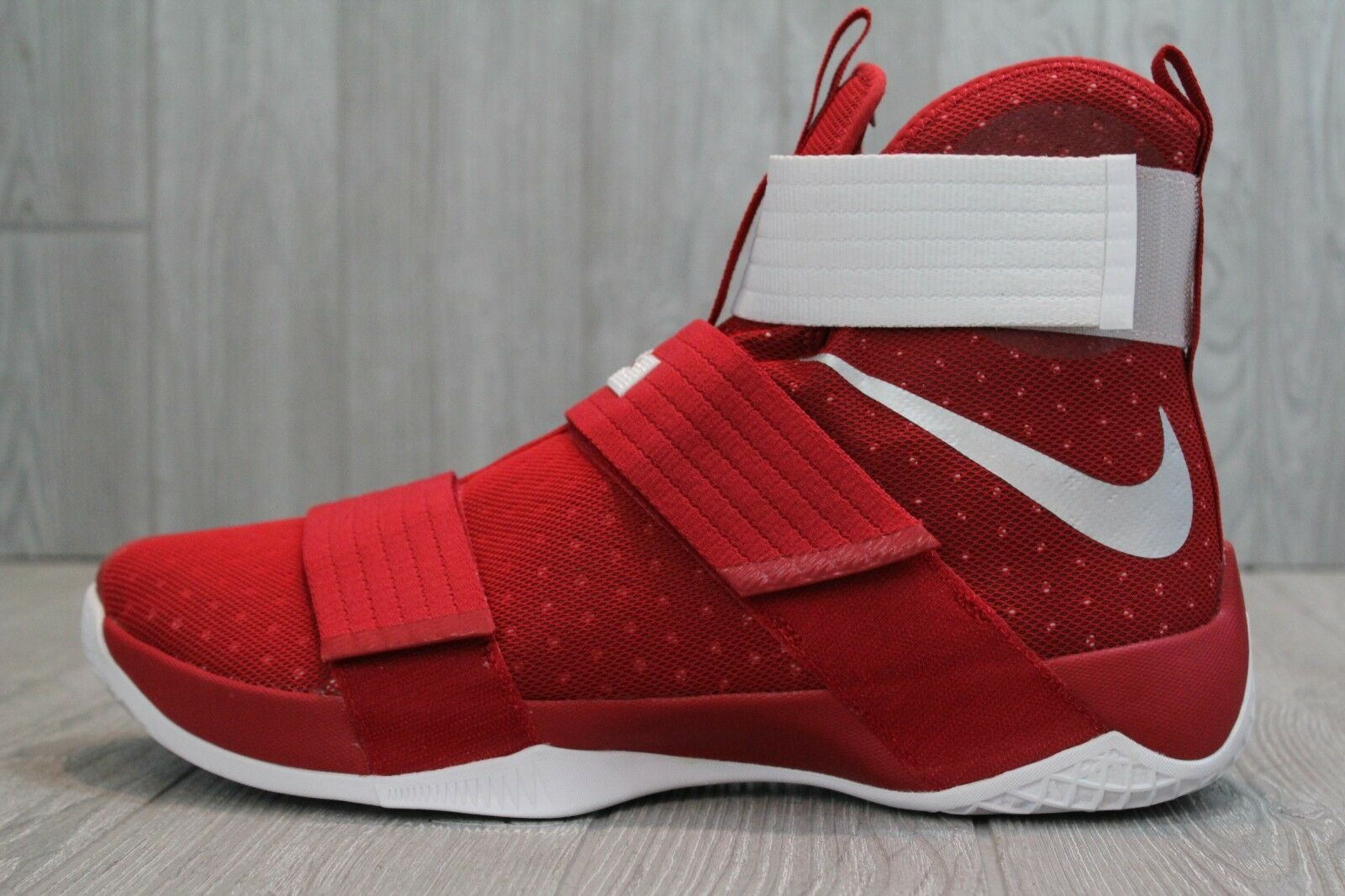 36 NIKE LEBRON SOLDIER 10 TB PROMO GYM RED WHITE SHOES 13, 14, 15.5 856489-661