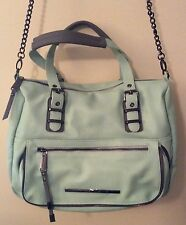 NEW Steve Madden Designer Large Mint Green Satchel Crossbody Bag