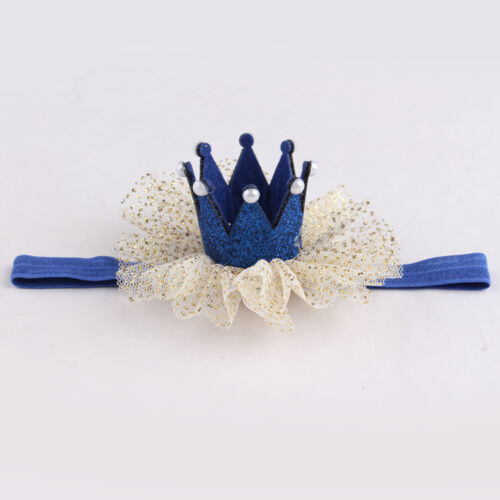 Cute Kids Baby Girl Lace Crown Hair Band Headwear Headband Hairband Accessories