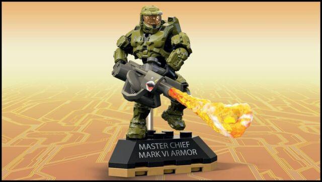 HALO MEGA CONSTRUX BLOKS MASTER CHIEF MARK VI ARMOR FIGURE HEROES SERIES 5  FFM78