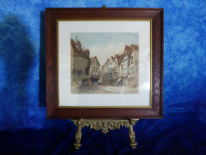 Vintage-HENRY-PERCY-HUGGILL-1886-1957-Liverpool-St-SIGNED-ETCHING-Artist-Proof