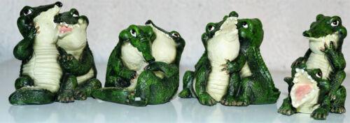 Dekoration Tierfiguren Krokodile Nilpferde 4erSets verschiedene Varianten,Größen