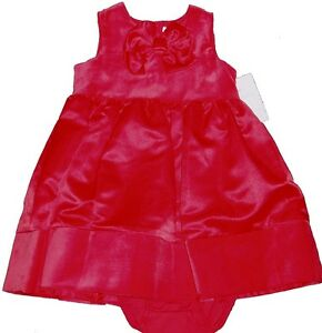 CARTERS DRESS GIRLS SATIN VELVET RED BLACK BABY XMAS PARTY HOLIDAY WEDDING BOW