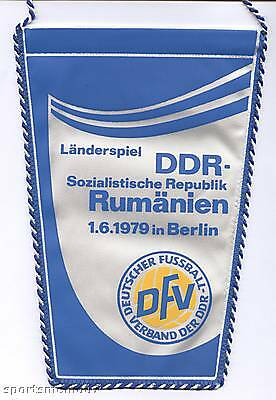 Orig.wimpel Freundschaftsspiel 01.06.1979 Ddr - RumÄnien !! Sehr Selten