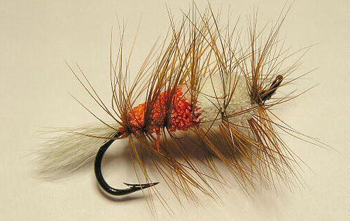 Buck Bug Orange//White #10 Salmon Hook  skating Flies