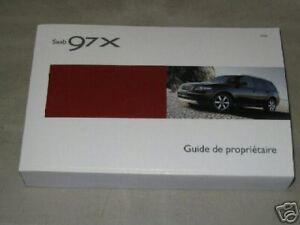 2006 saab 97x suv 97 x owner s manual french ebay rh ebay com 2007 Saab 9-7X Recalls 2006 Saab 9- 5 Interior