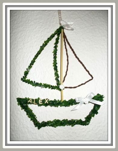 Türdeko Türkranz  Schiff Deko Taufe Kommunion Konfirmation Fensterdeko Boot