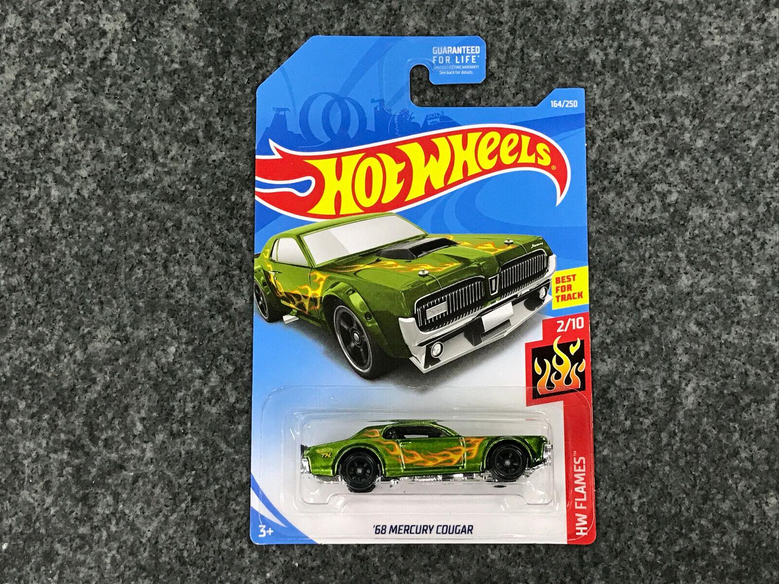 2019 Hot Wheels Super Treasure Hunt USA Card   '68 Mercury Cougar STH