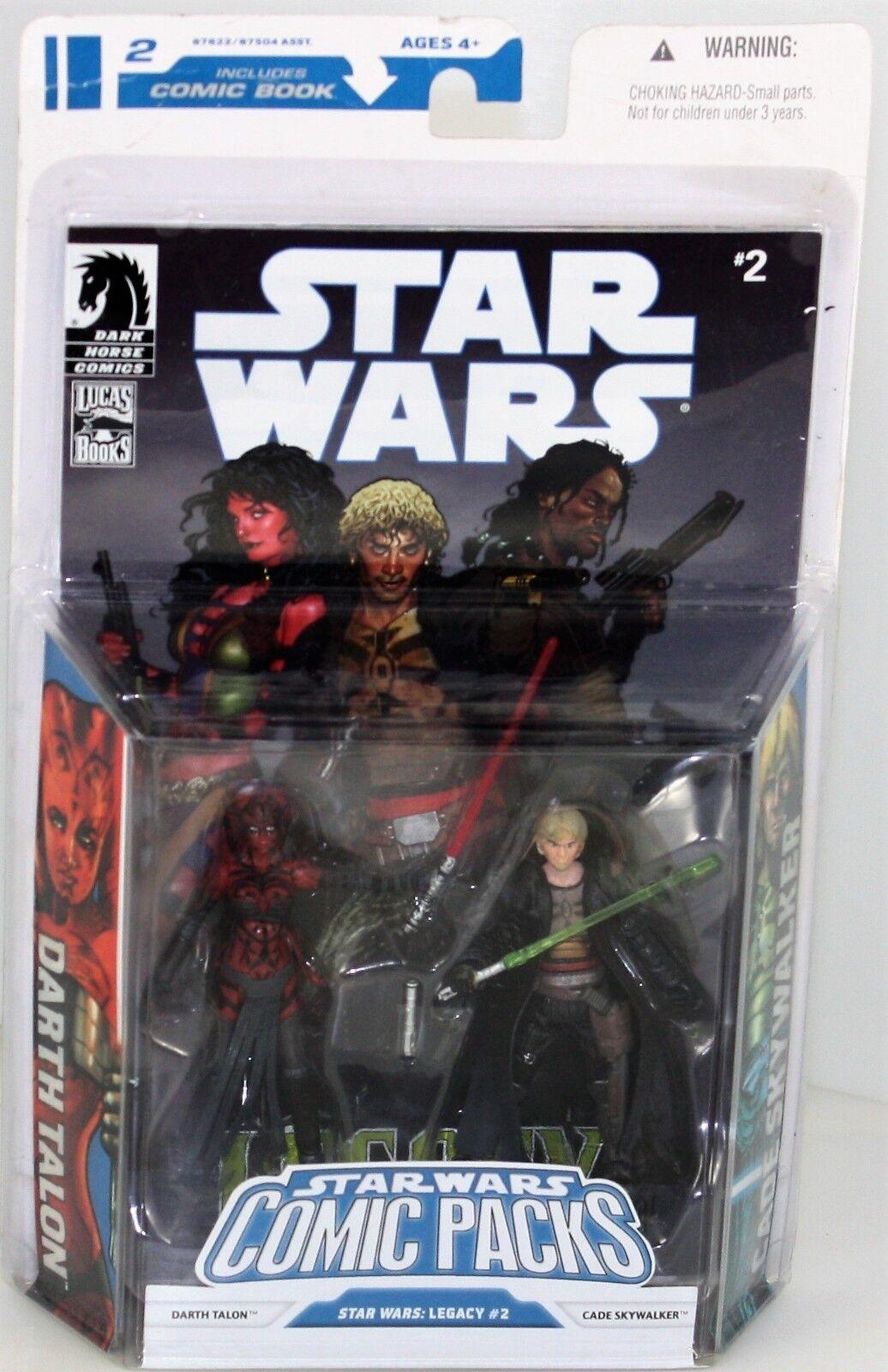 Darth Talon & Cade Skywalker-Hasbro Estrella Wars Comic Packs Figura Set