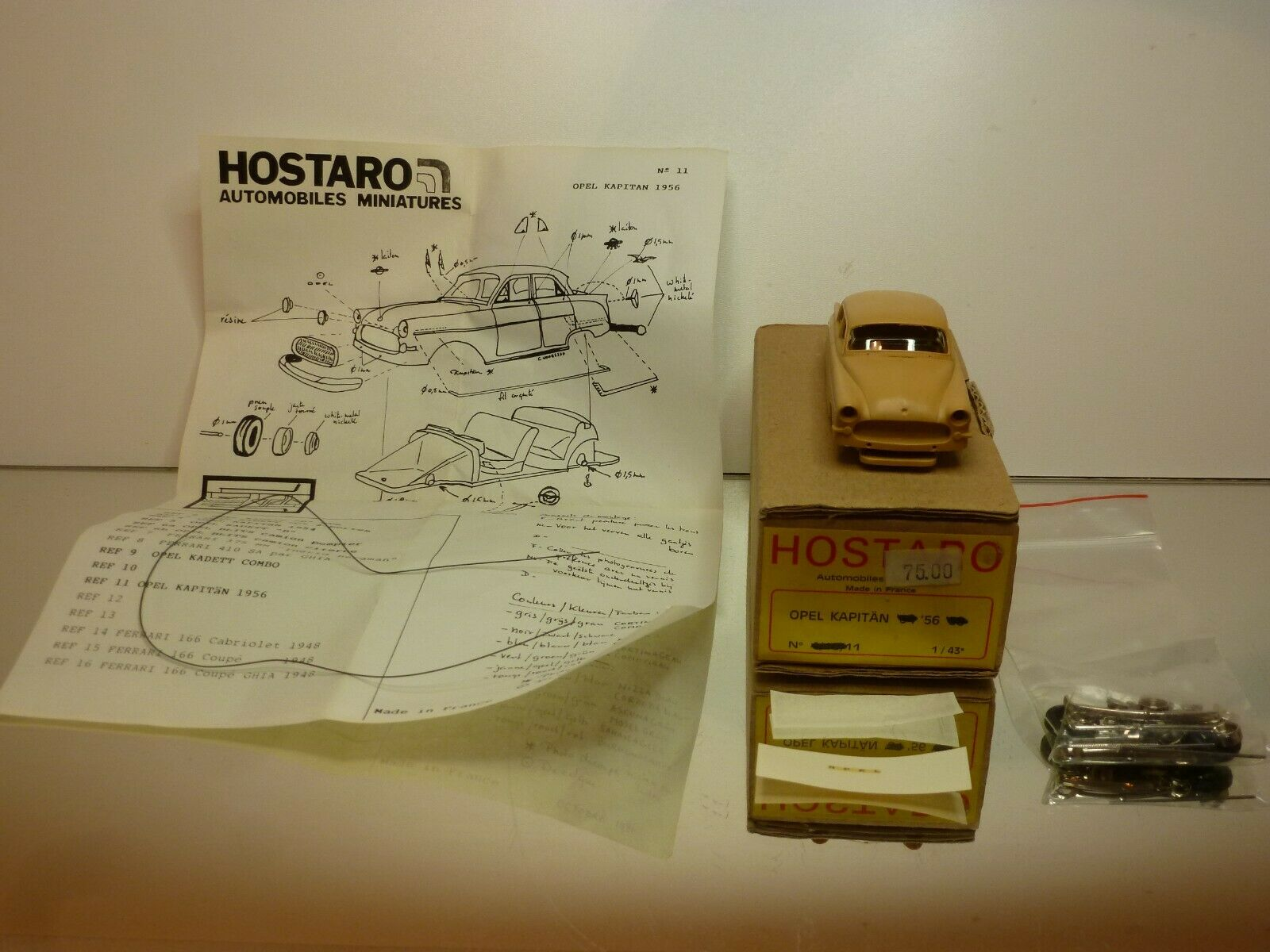 HOSTARO OPEL KAPITAN 1956 - 1 43 - GOOD CONDITION IN BOX
