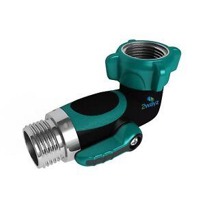 2wayz-90-Degree-Garden-Hose-Connector-Elbow-Shut-off-Valve-Faucet-Extension